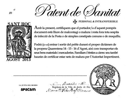 PATENT DE SANITAT